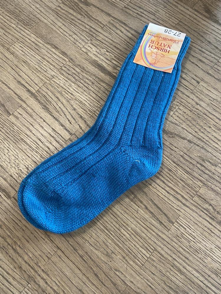 Wollsocken - blau