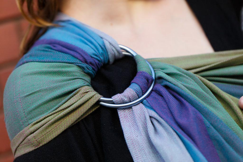 Girasol Exclusive Ringsling - Rainbow Nature lila Kreuzköper