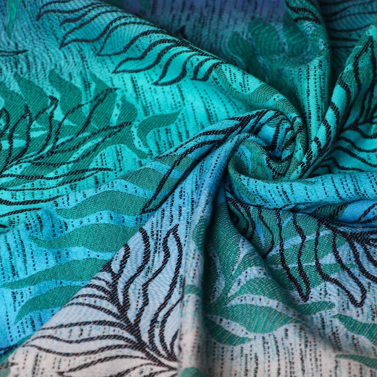 Oasis Duo Aqua Grad Emerald Navy Wool