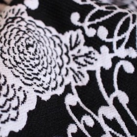 Chrys Puffy Black White Wool