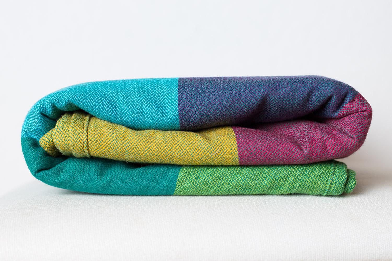 Girasol Exclusive Tragetuch - Rainbow Sunset türkis