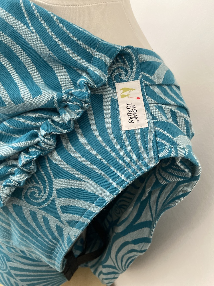Wrap Conversion Mei Tai Halfbuckle Gr. 2 - Dandy Teal Wool
