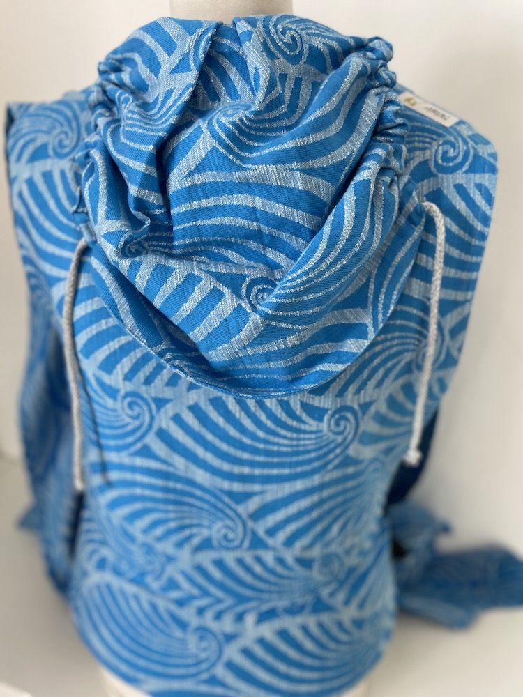 Wrap Conversion Mei Tai Halfbuckle - Dandy Light-Blue Flame