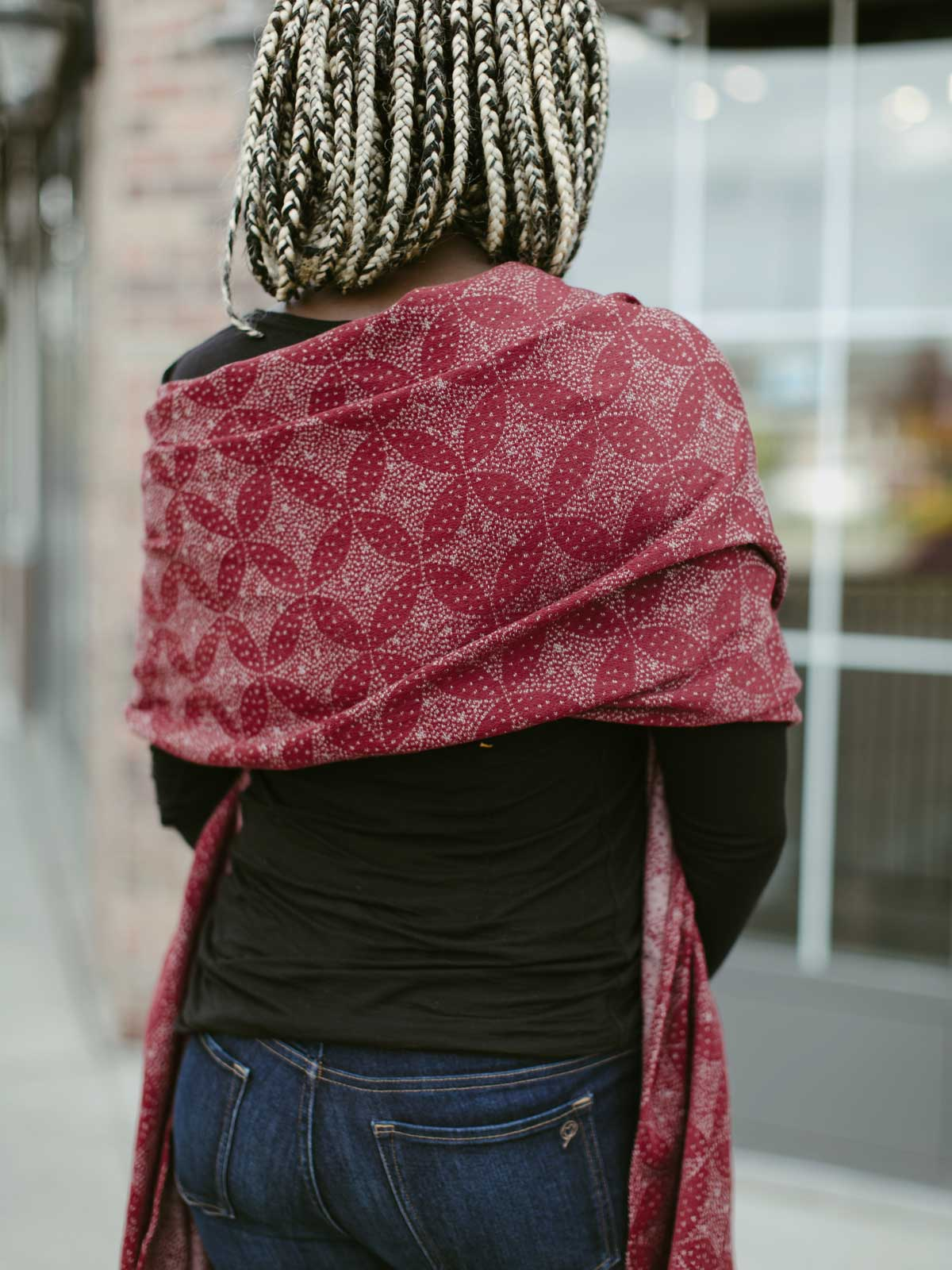 Oscha - Schal - Starry Night Garnet - Scarf