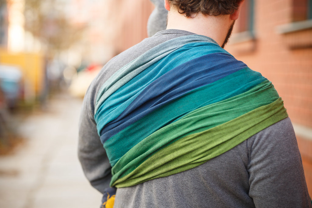 Girasol Exclusive Ringsling - Rainbow Nature schwarz Kreuzköper