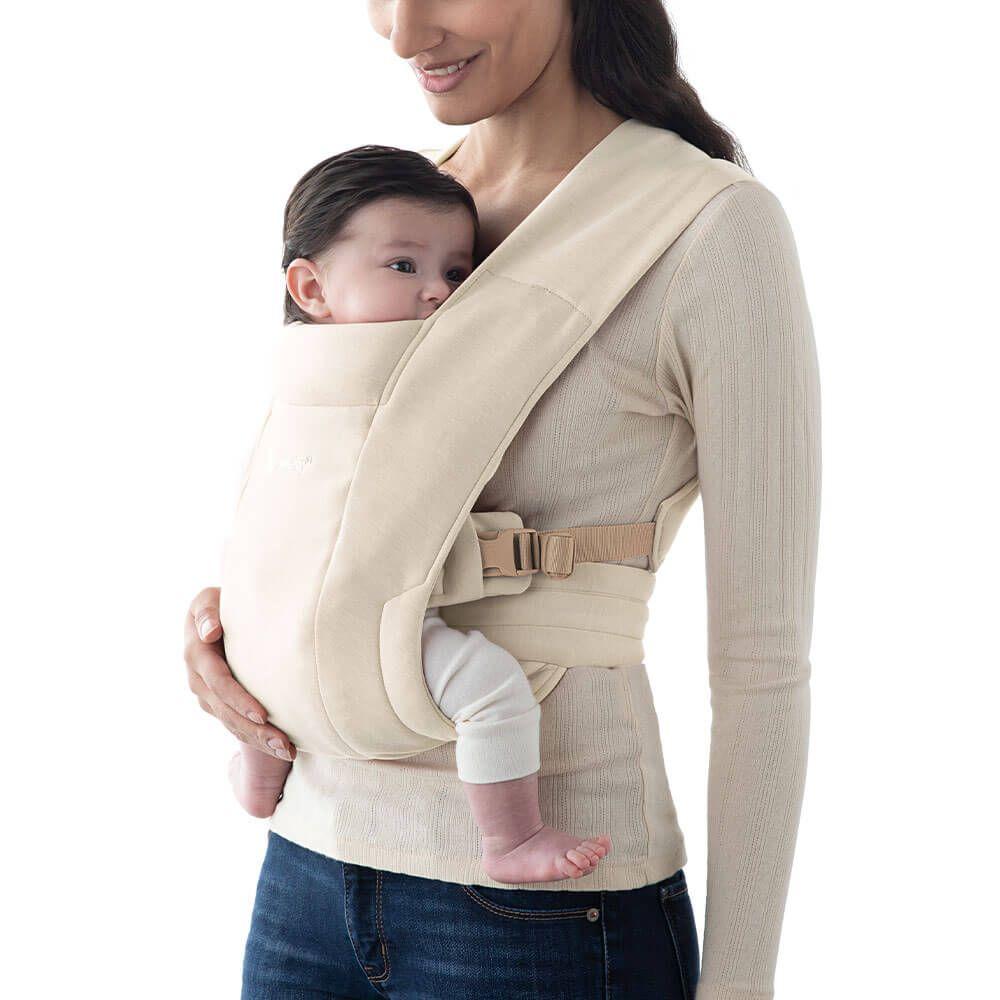 Ergobaby Embrace Babytrage für Neugeborene ab Geburt - cream