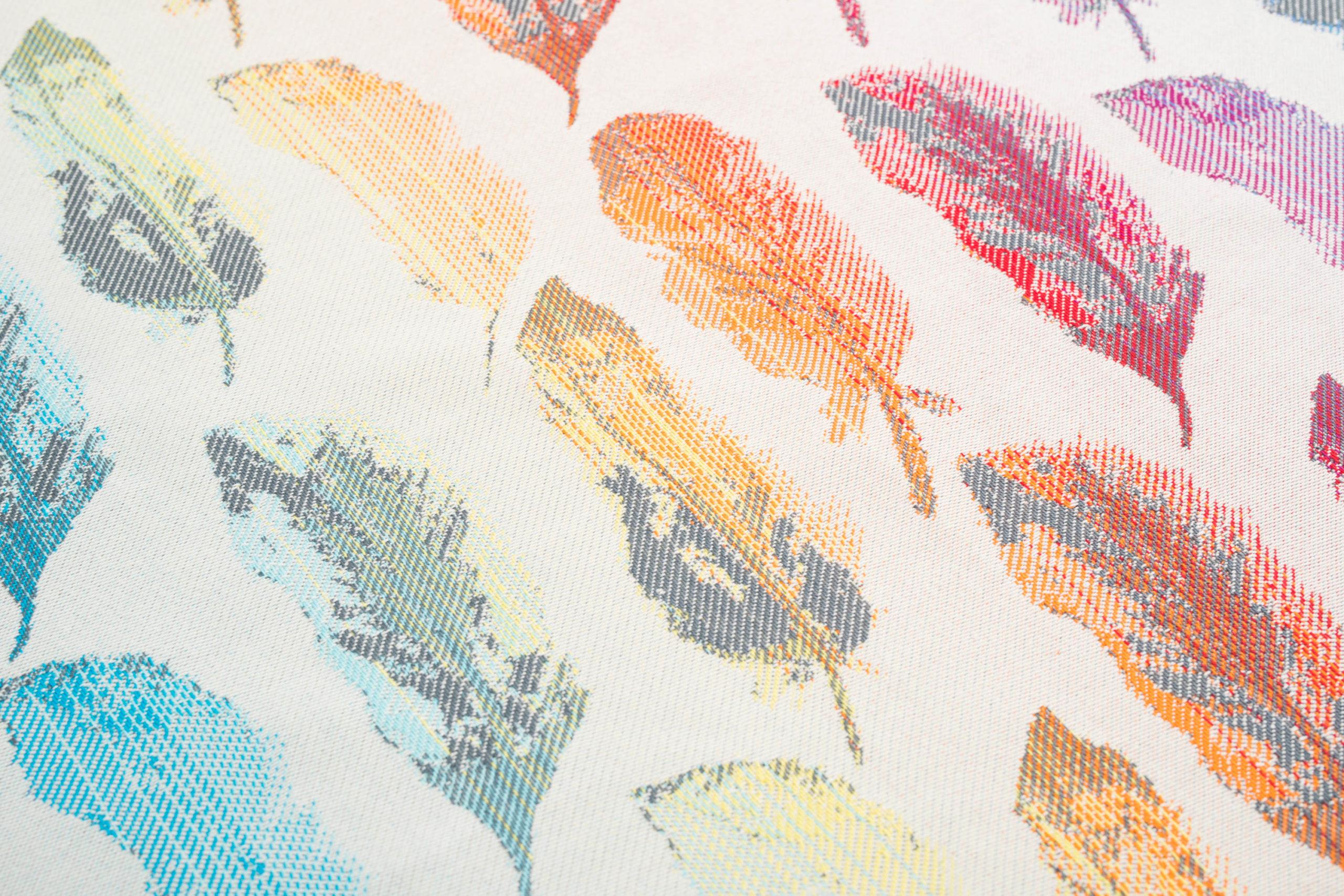 Mr X Fullbuckle - Painted Feathers Rainbow Light